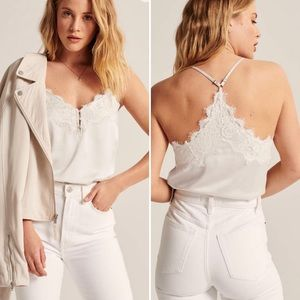 Abercrombie & Fitch Satin Lace Bodysuit NWT
